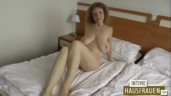 Sexy brunette German babe with big tits has her pussy pounded hard